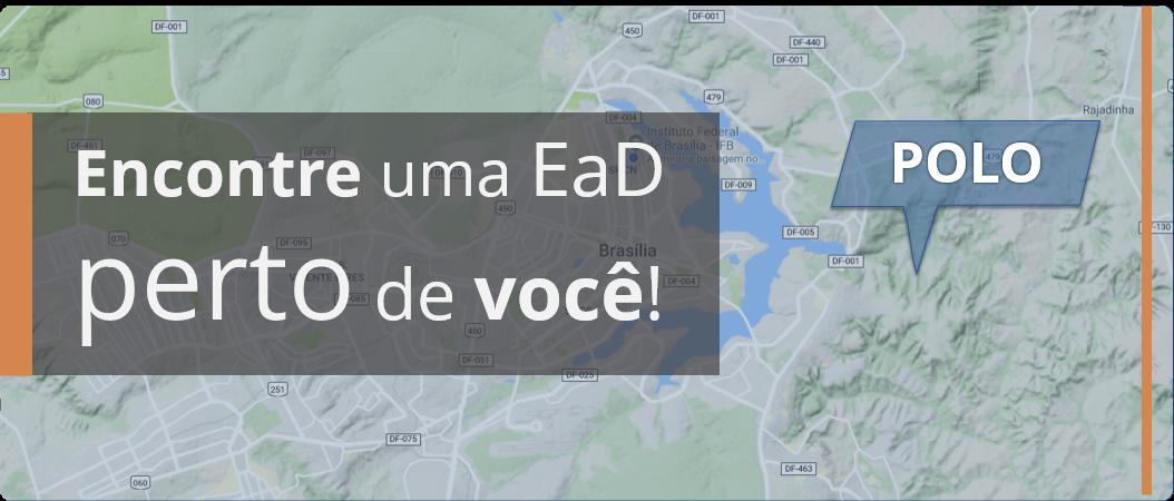 Mapa dos polos EaD