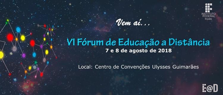 Saiba mais sobre o VI Fórum de EaD